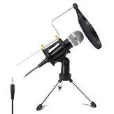 X-01 3,5 mm Jack Mini microphone à condensateur d'enregistrement pour ordinateur PC Karaoke Phone