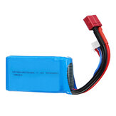 Wltoys 7.4V 1500mAh 25C 2S Lipo Battery T Plug for 144001 A959-B A969-B A979-B 1/18 RC Car