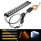 2pcs 12V 2835 Switchback Turn Signal Headlight LED Strip DRL Light Tube Waterproof