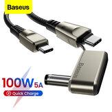 Baseus 2 в 1 100 Вт 5A Кабель USB-C - USB-C PD3.0 / USB-C - DC Кабель BPS для быстрой зарядки и передачи данных для ноутбуков Смартфонов