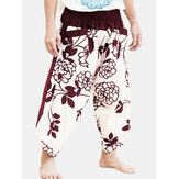 Mens Hippies Floral Loose Yoga Trousers Thai Harem Beach Party Holiday Pants