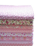 KING DO WAY 8PCS Cotton Fabric Pattern Quilting Printed Cloth for Patchwork Needlework DIY Handmade Material