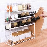 4 Tiers Metal Kitchen Spice Rack Jars Bottle Organizer Bathroom Storage Shelf