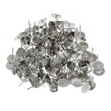 100 Pcs Flat Pad Ear Nuts Clutches Earring Posts Studs