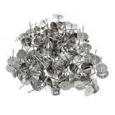 100 قطعة مسطح وسادة الأذن المكسرات براثن القرط المشاركات الأزرار