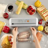 LOSKII Food Vacuum Sealer Machine Touch Screen One Key Operation Strong Suction Preservation Vacuum Lock Fresh Moisture proof Mildew Proof With Slide Knife