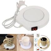 220v白電動電動ウォーマーヒーターパッドコーヒー茶ミルクマグUSプラグ