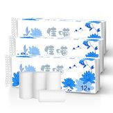 12 rolos Papel higiênico doméstico Rolos Papel Toalha Papel Toalhas Rolos de tecido de banho Cozinha doméstica Banheiro Papel higiênico