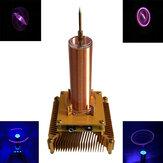 Müzik Tesla Bobini Akrilik Kabuk Ark Plazma Hoparlör Kablosuz İletim Deneysel Masaüstü Oyuncak Modeli Altın