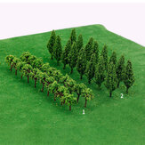 2.8cm-8.5cm Mini Railway Road Landscape Scenery Tree Scale DIY Sand Table Model Building Tree