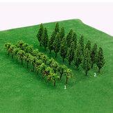 2.8cm-8.5cm Мини Железная дорога Пейзаж Пейзаж Дерево Шкала DIY Песочный стол Модель Строительное дерево