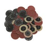 40pcs 40/80/120/240 Grits 2 pouces Roll Lock R Type Sanding Disque abrasif