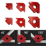 6Pcs Magnetic Welding Locator Set Holders 25lb 50lb 75lb Multi Angles Tool