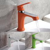 Бытовая многоцветная ванна Кухонная плита Смеситель для холодной и горячей воды Зеленый Оранжевый Белый
