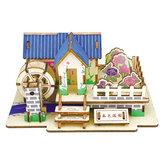 لعبة ألغاز خشبية ثلاثية الأبعاد مصنوعة يدويًا بناء خشبي نموذج لعبة تعليمية للأطفال هدية إبداعية