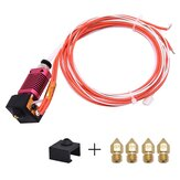 Creativity® 1.75mm Extruder Hotend Kit Aluminum Heat Block Fits Ender 3/CR10/CR10S With 0.4mm Nozzle for 3D Printer