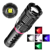 XANES® 1680 2500LM XHP90+COB+RGB 10-Modes Zoomable Ultra Bright LED Flashlight With Side Light Powerful Hunting Searching Torch