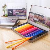مجموعة أقلام رصاص من ديلي 24/36/48/72 لونًا من الخشب الزيتي اللون مجموعة أدوات مكتبية لرسم الرسم لمستلزمات طلاب المدارس
