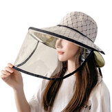 Womens Reversible Protective Full Face Shield Cap Waterproof Detachable Anti Droplets Splash Hat