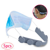 [5 PCS] Mask Rope TPU Extension Buckle Adjustable Non-slip Mask Ear Grip Extension Hook Eco-friendly Retainer