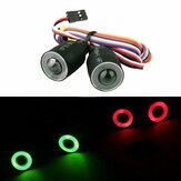 Rosso o verde LED Luci faro per 1/10 4WD Rock Crawler Axial SCX10 RC Car