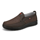 Men Comfy Wearable Breathable Cloth Elastic Slip On Casual Walking Shoes