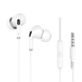 Langsdom R34 Sistema de monitoramento de fone de ouvido de 3,5 mm com microfone e controle de volume Fones de ouvido com cancelamento de ruído para iPhone Huawei LG