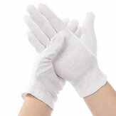 12 Pairs  Disposable White Glove Soft Cotton Safety Oil-Resistant Camping Picnic BBQ