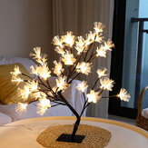 Cherry Blossom Tree Lamp LED Table Lamp Indoor Artificial Decoration Lighted Tree For Bedroom Party Wedding Office