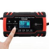 12 / 24V 8A / 4A Caricabatterie multifunzione touch screen Riparazione LCD Batteria Caricabatterie per auto moto Piombo acido Batteria Agm Gel Bagnato per auto / moto / camion