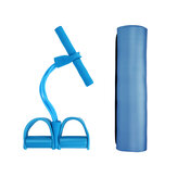 Yoga Mat Pedal Tension Rope Resistance Bands Indoor Exercise Tranier Fitness Kit