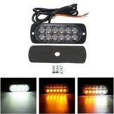 12V-24V 36W 12 LED Odzyskiwanie światła awaryjnego Strobe Grill Lampa ostrzegawcza lampka ostrzegawcza