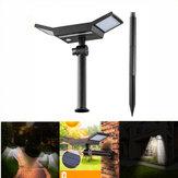 ARILUX® 20 LED Luz blanca Sensor Solar Luz al aire libre Impermeable Luz de estaca