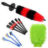 10PCS Car Detailing Brush Satz Fahrzeug Auto Wheel Clean Brush Set Autowäsche