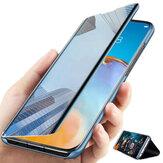 Bakeey para Huawei P40 Pro Caso Espejo con revestimiento abatible plegable Vista de ventana Cubierta completa a prueba de golpes Protective Caso