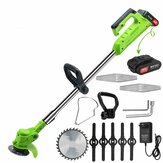 26V Electric Cordless Lawn Mower Household Small Garden Cordless Lawn Mower Band Saw Blade And Battery