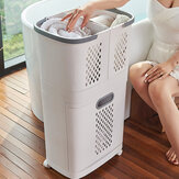 Removable Breathable Laundry Basket Home Bathroom Lightweight Water-resistant Shelf With Universal Wheel