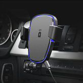 360 Degree Rotation Qi Car Air Vent Wireless Phone Charger Holder Black ABS Stand Mount for IPhone X