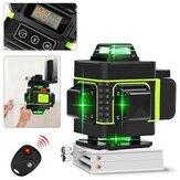 Luz verde forte de 16 linhas 3D Controle Remoto Laser Medida de nível com moldura de fixação de parede
