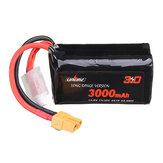 URUAV VTC6 18650 4S 14.8V 3000mAh 15 / 30C 4S1P LR Li-ion LionPack Batterie Prise XT60 pour GEPRC Crocodile Baby 4 Crocodile7 Drone de course FPV longue portée