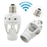 Czujnik ruchu podczerwieni PIR 360 stopni zegar E27 LED żarówki uchwyt lampy konwerter AC110V / 220V