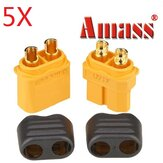 5 Pair Amass XT60+ Plug Connector With Sheath Housing Male & Female