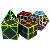 5 stks per doos koolstofvezel magic Cube pyraminx dodecaëder as Cube 2x2 en 3x3 Cube speed puzzel