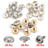 20Set Stainless Steel 3/8 Inch Boat Cover Canopy Fittings Fastener Snap