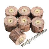 7pcs лоскут шлифовальной колесо 80-600 с зернистостью 1/8 дюйма оправки подходят Dremel мясорубки вращающегося инструмента в