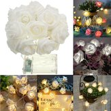 Batterie Powered 1M 9LEDs Warm White Indoor Schlafzimmer Dekor Hochzeit Rose Blume Fairy String Light