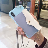 Carteira criativa de moda Padrão Silicone Caso de proteção com slot para cartão de cinta para iPhone X/XS / XR / XS Max / 6/7/8 / 6S Plus/6 Plus/7 Plus/8 Plus