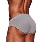 Mens Solid Color Underwear Cozy Low Waist Briefs