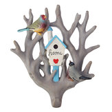 Bird Parrot huis Tree Seamless Muurhaak Hanger Home Decoration Ornament