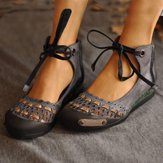Casual oco Out Retro confortável Flat Lace Up camurça Loafers
